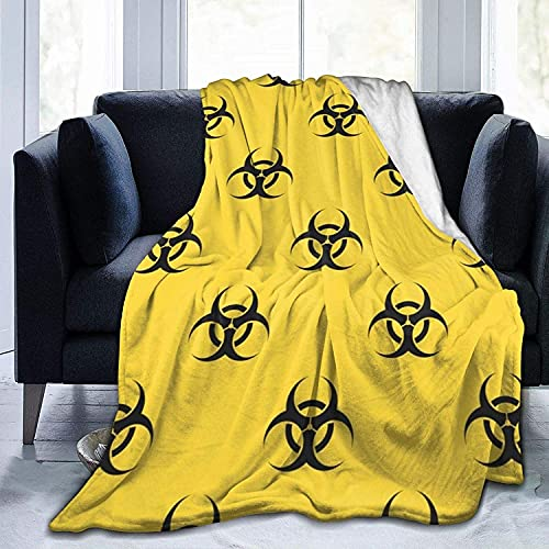Resident Evil - Manta de sofá de franela de lujo, tamaño grande, adecuada para dormir con aire acondicionado (R-1, 100 x 100 cm)