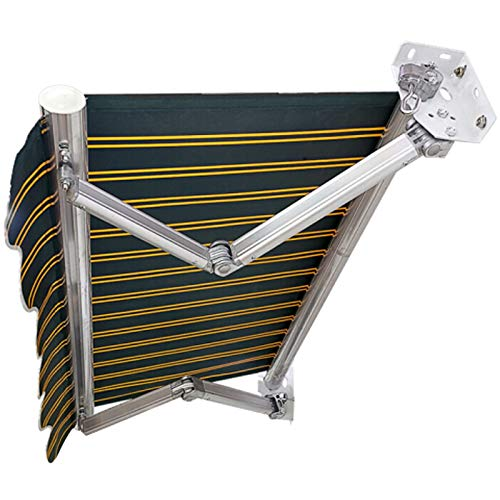 LWH Toldo telescópico/Toldo de Patio 200X150CM Impermeable y Protector Solar Resistencia al Viento Inclinación Libre de 30-70°