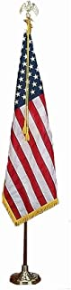 Valley Forge Flags Deluxe 7' U.S. Flag Presentation Set - Parade Flag- Indoor Flag