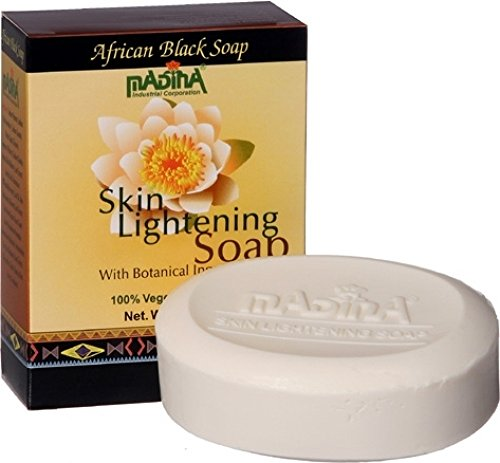 Madina Skin Lightening Botanical African Black Soap [3.5 oz.]