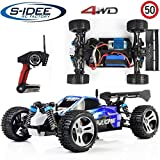 s-idee 18105 A959 RC Auto Buggy Monstertruck 1:18 mit 2,4 GHz 50 km/h schnell, wendig, voll digital proportional 4x4 Allrad WL Toys ferngesteuertes Buggy Racing Auto