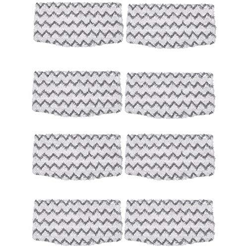 SNOWINSPRING 8 Packungen Dirt Grip Mikrofaserpads Als Ersatz für Shark Steam Mop S1000 S1000A S1000C S1000WM S1001C Staubsauger