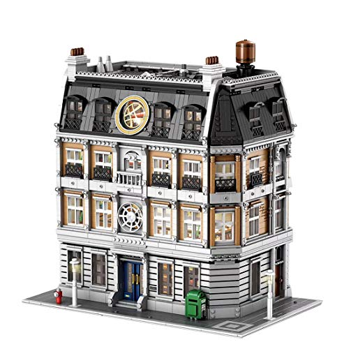 NFtop City Haus Bausteine Stadthaus Modell Modular Building Bausteinspielzeug Mit Licht - Kompatibel mit Lego City Haus Modell- 6564 Teile -Mit Farbbox Edition