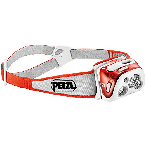 Petzl - REACTIK+ Headlamp, 300 Lumens, Bluetooth Enabled, Orange