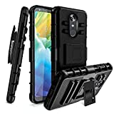 LG Stylo 4/LG Stylo 4 Plus Case W Tempered Screen Protector Built-in Kickstand Swivel Belt...