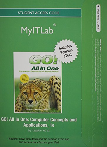 myitlab with Pearson eText -- Access Code -- for GO! All in One [Office 2010]