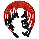 A-Team Performance Silicone Spark Plug Wires Set LT1 LT4 Optispark Compatible with GM Chevy Chevrolet Pontiac Z28 Camaro Corvette Firebird Impala Caprice 1992-1997 5.7L 4.3L - Red 8mm