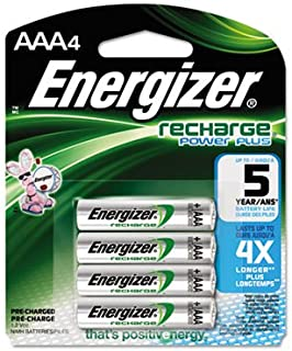 NiMH Rechargeable Batteries, AAA, 4 Batteries/Pack, Sold as 2 Package
