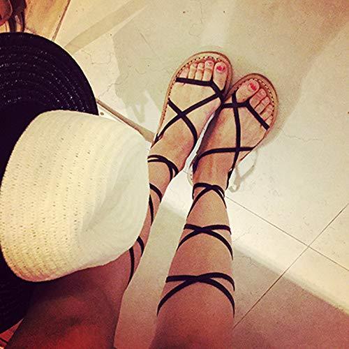 Shukun dames flip flops Vintage Romeinse kruis riem sandalen dames zomer platte paal sandalen schoenen met riem Cool laarzen