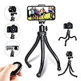 Leypin Flexible Phone Tripod,Portable and Adjustable Phone Tripod Stand with Wireless Remote and Cell Phone Tripod,Compatible with iPhone, Android Phone, Camera, Sports Camera GoPro