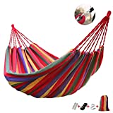 QAZWSX Outdoor Portable Hammock Garden Sports Home Travel Camping Swing Canvas...