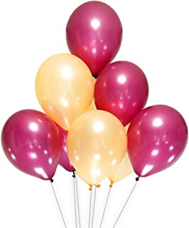 AZOWA Burgundy and Orange Color Latex Balloons 12 inch Party Decorations Pack of 100 Balloons Great for Birthday Party Baby Shower Wedding Celebrate Decorations