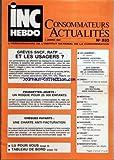 INC HEBDO CONSOMMATEURS ACTUALITES [No 533] du 09/01/1987 - GREVES SNCF ET RATP -...