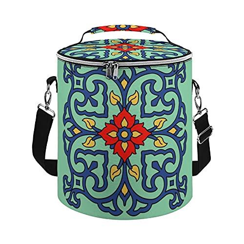 Bolsa enfriadora vintage con diseño de azulejos de Catalina Island con aislamiento, bolsa grande para actividades al aire libre, senderismo, camping, barco, playa, pesca