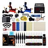 Tattoo Kit, Phoenixy Tattoo Machine Kit 2 Pro Dragonfly Rotary Tattoo Gun Professional Complete Shading & Lining 20+1 Tattoo Inks 50 Needles 50 Tips Tattoo Supply For Artists