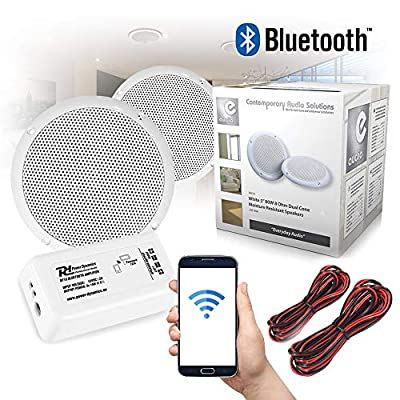 Bluetooth Ceiling Speakers and Amplifier System for Kitchen Bathroom Home Audio Wireless from Electromarket