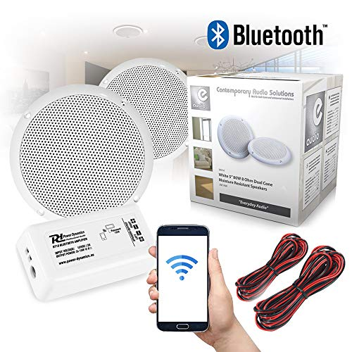 Power Dynamics Bluetooth Ceiling Speakers and Amplifier System for Kitchen...