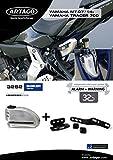 Artago 32S2 antirrobo Disco Alarma 120 db Alta Gama y Soporte Yamaha mt-07 y Tracer 700, Cierre s.a.a, homologado Sra, Acero Inoxidable, 120db