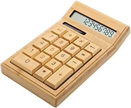 $21 » Kaokee Eco-Friendly Bamboo Electronic Calculator Counter Standard Function 12 Digits Solar & Battery Dual Powered for Home Office School Retail Store
