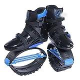 QZFH Unisex niños Adultos antigravedad Corriendo Botas de Fitness Zapatos de la Despedida de Salto cojín Shoes.Air antigravedad Corriendo Botas,Azul,L