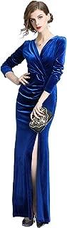 sapphire blue velvet dress