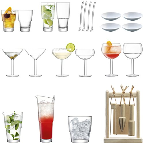 LSA International Mixologue Cocktail, Verre, transparent, Connoisseur Set, 26 Pcs