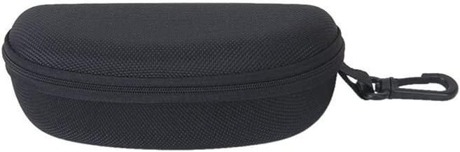 PIXNOR Sunglasses Eyeglasses Zipper Hard Case Protective Box with Hook (Black)