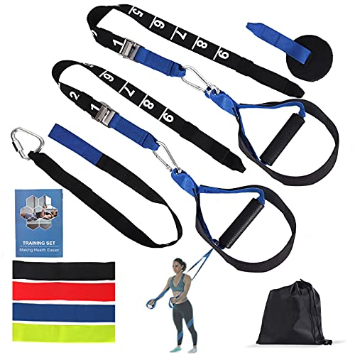 XSTRAP Resistance Training Straps, Home Gym Strength Training Straps Outdoor Fitness Training Set, Workout Resistance Bands Set with Handles for Men Women