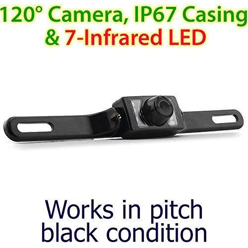 Infrarouge IR CCD étanche de Plaque d'immatriculation de Voiture Caméra de recul de stationnement arrière