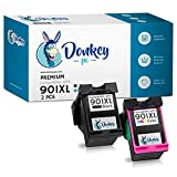 DONKEY PC - 901XL 901 XL Cartuchos de Tinta para Impresoras HP Officejet 4500 G510a 4500 G510g 4500 G510n J4500, J4524 J4540, J4550 J4580 (Negro/Color) | 900 páginas Negro | 360 páginas Color