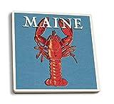 Juego de 4 posavasos de goma para bebidas, Maine – Blog de langosta, posavasos absorbente,...