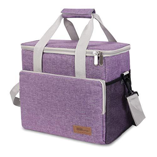 HOMESPON Isolierte Kühltasche 16,5L wasserdichte und Auslaufsichere Picknicktasche mit verstellbarem Schultergurt Lunch Kit für Camping, Grillen und Familienaktivitäten im Freien usw