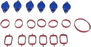6 Pieces 22mm Diesel Swirl Flap Repair Kits For BMW E90 E91 320d 325d - Blue