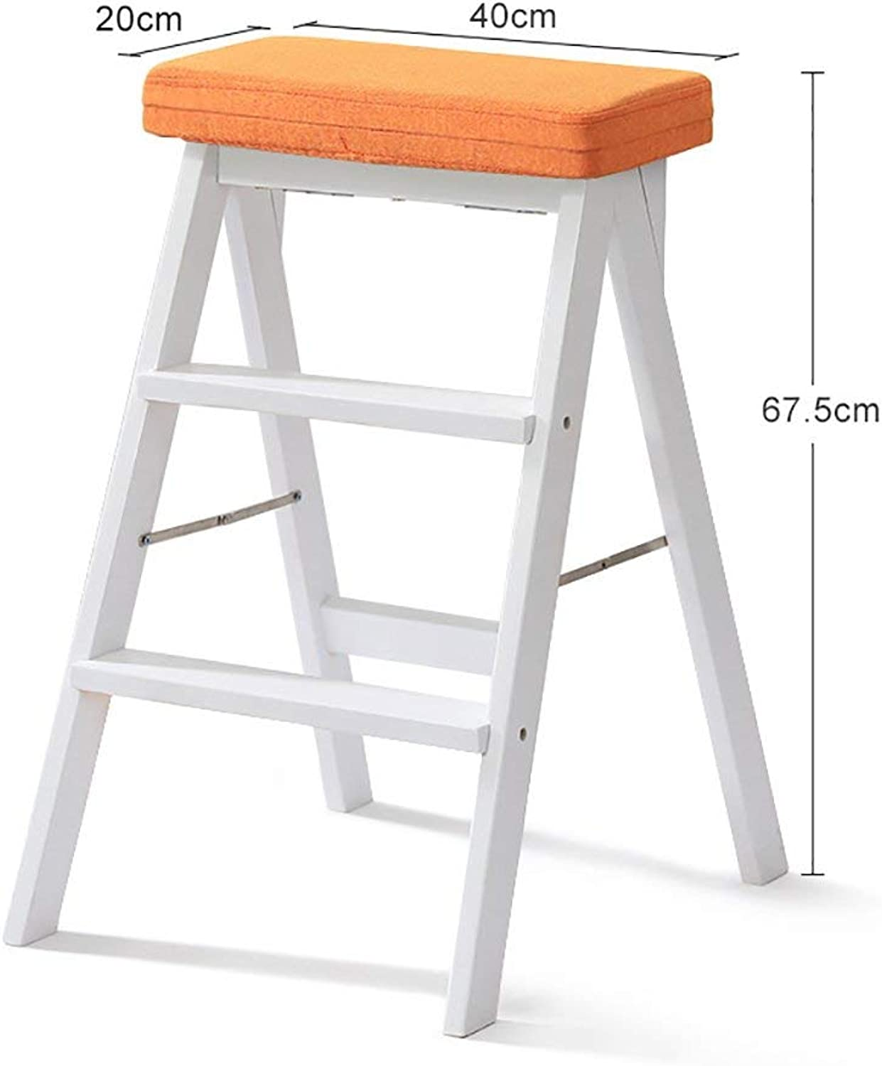 DEED Creative shoes Stool-Foldable Stool Stool Solid Wood Ladders Adult Kitchen Multifunction High Bench,Home Stool