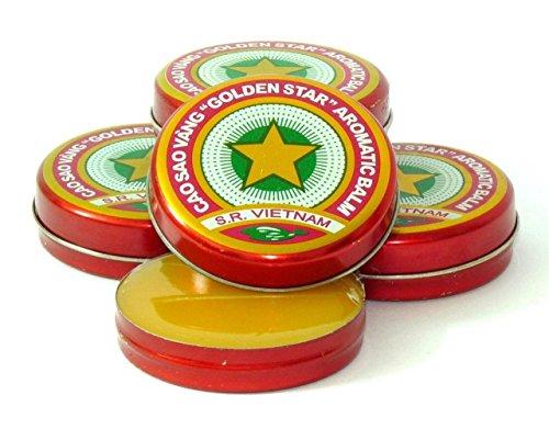 12 Boxes X 3 Grams (Net Weight), Golden Star Balm, Cao Sao Vang Vietnam, Aromatic Balsam by Golden Star Balm