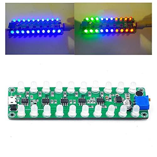 Grbewbonx Control de sonido por voz Medidor VU Amplificador Junta Indicador de espectro de audio Músicos y Sonido Profesionales