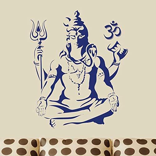 HGFDHG Adhesivo de Vinilo para Pared Lord Shiva, hinduismo, Dios hindú, Arte religioso, calcomanía para el Arte de la Sala de Estar del Dormitorio Familiar