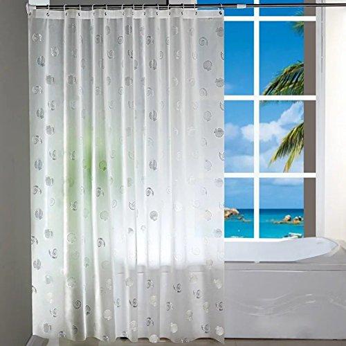 Rideau de douche de salle de bains Épaississement d'eva transparent rideau de douche gommage Moisissure imperméable à l'eau Salle de bain cloison douche rideau suspendu-A 150cm*180cm