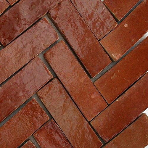 20Stk. Cotto Ziegel bejmat Bodenplatte 10x10x2,0cm Bodenfliesen Fliesen (Brikett braun glasiert)