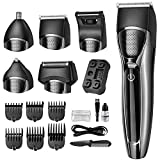 Hair Clipper for Men, Sunkloof Cordless Hair Trimmer 16 in 1 Grooming Kit Electric Beard Trimmer for Head, Nose Ear Facial, Mustach, Body Groomer with Rechargeable Storage Dock