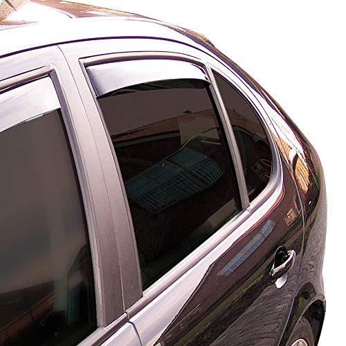 Hintere Windabweiser (1 Set) für die Fahrer und Beifahrerseite-CLS004M2004D passend für Volvo XC60 SUV, TYP U, 5-Door, 2017- Dunkles Material