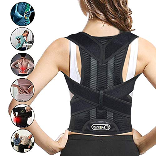 ZSZBACE Rückenorthese, Haltungskorrektur für Frauen und Männer, Korrektur des Buckels, Verringerung der Schmerzen im unteren und oberen Rücken (XXL)