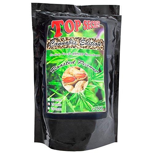 Top SecretCannabis-Edition Boilies 16mm Roasted Peanut 1Kg