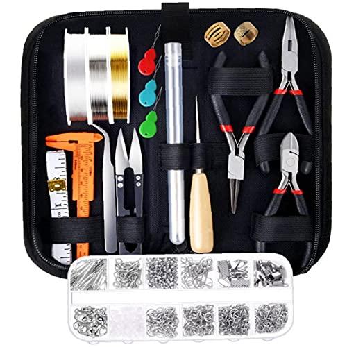 lujiaoshout Bricolaje de Cuentas Material Suministros joyería Que Hace el Kit con los hallazgos Cables de Joyas de reparación de joyería Rebordear Craft Gadget
