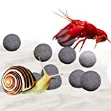 SunGrow Snail and Crayfish Energy Balls, Promote Shell Development, Enhance Color, Calcium-Rich Grey...
