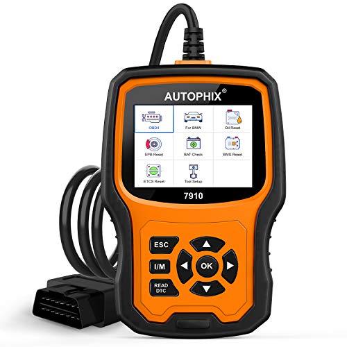 AUTOPHIX Diagnostic Scanner Tool for BMW,Enhanced 7910 Multi-System OBD2 Scanner Auto Fault Code Reader with Battery Registration for All BMW After 1998 [Upgrade Version]