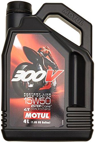 Motul 16466 Öl Motorrad 15W50 4T Syn 300v FL Road Racing 4L 104129 3374650247670