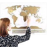 Rubbel Weltkarte (Deutsch) +A4 Rubbelkarte von Deutschland
