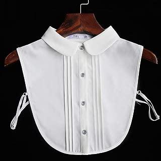 Camisa de cuello desmontable para mujer Peto Mujer Chemisier Tie Cuello Falso Camisa Cuello Falso para mujer de pie Cols sintéticos, XL: Amazon.es: Hogar