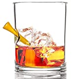 """Stuck in Glass """"HOLE IN ONE"""" WHISKEY GLASS 